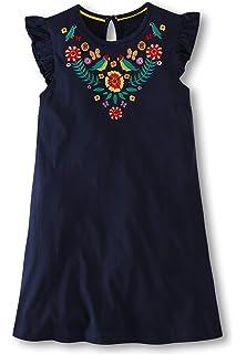 bb103c7c25df Fiream Girls Summer Casual Dresses Cotton Short Sleeves Flower Dresses