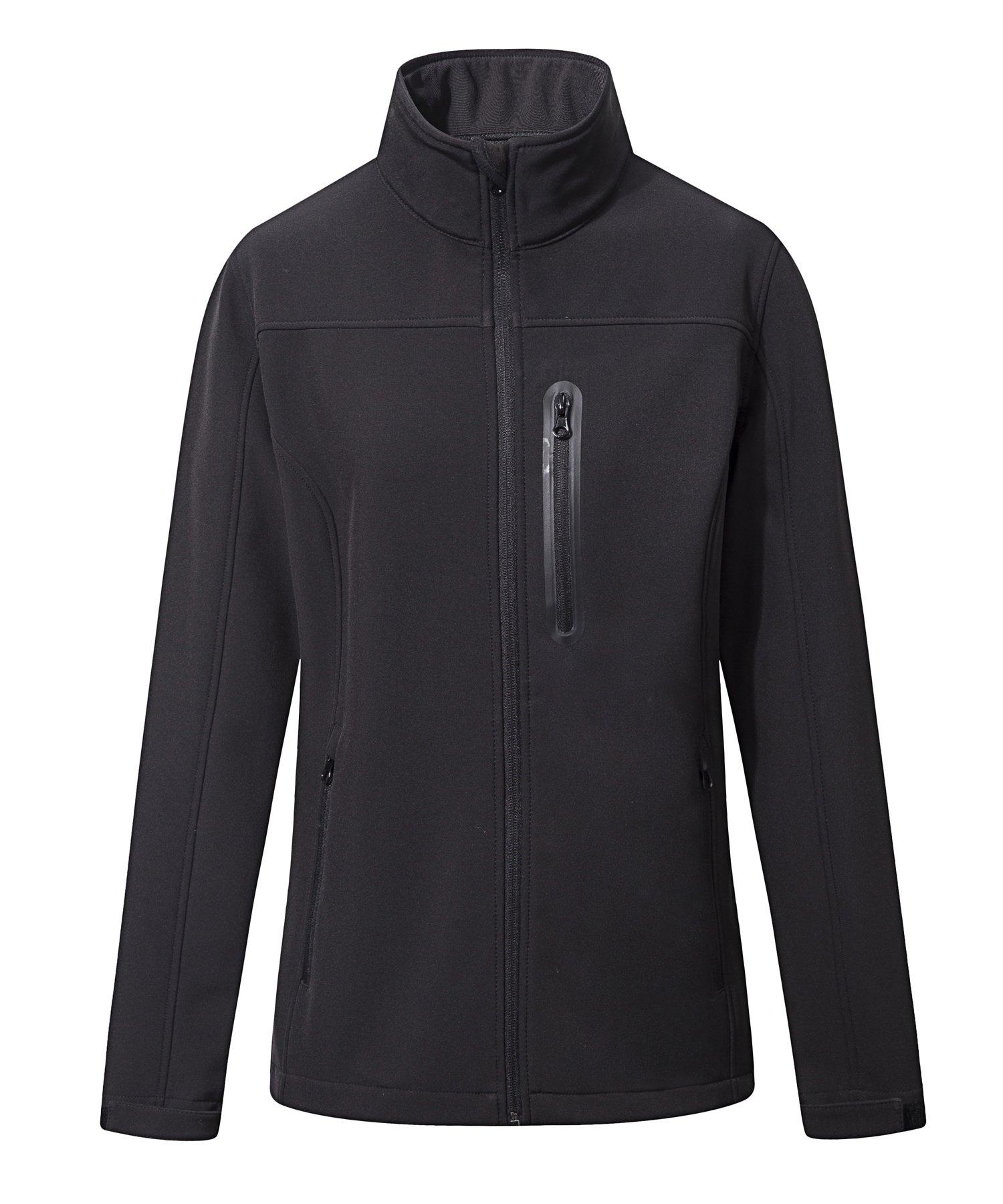 SPECIALMAGIC Women's Waterproof Outdoor Running Biking Jacket Cycling Softshell Black L