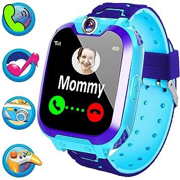 Montre connectée pour Enfants avec appels SOS Montre téléphone écran Tactile HD 3,4 cm
