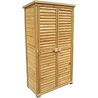 Caseta de jardín 870x465x1600mm con puerta laminada, madera