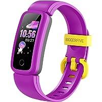 BIGGERFIVE Vigor Fitness Tracker zegarek dla dzieci dziewcząt chłopców nastolatków, monitor aktywności, krokomierz…