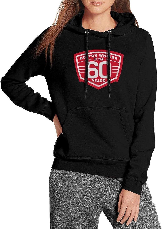 NINETYRW Fashion Womens Hoodie Boston-Whaler-Boat-Logo Sweatshirts Wool Pullover