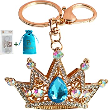 QUEEN BEE CROWN GRADUATION PURSE CHARM KEY RING PRINCESS TIARA Bag