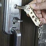 Compact Key Holder Keychain,Aircraft Grade Zinc