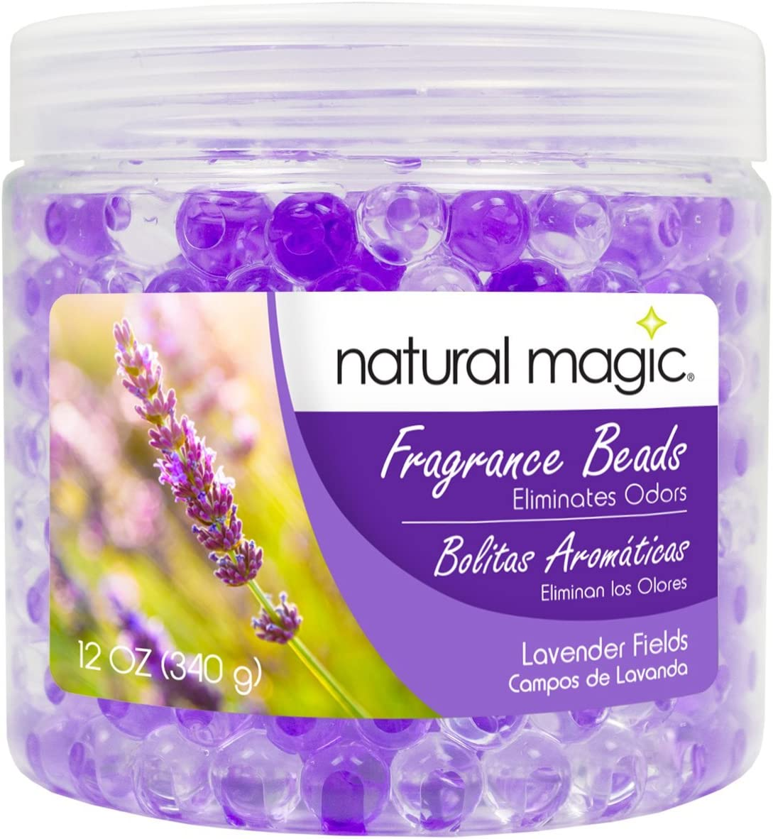 Natural Magic Fragrance Beads - Odor Absorbing - 12 Ounces - Lavender