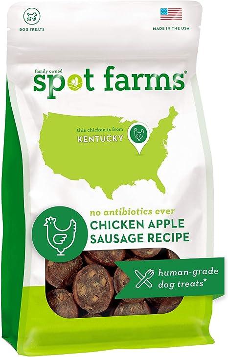 Amazon Com Spot Farms Chicken Apple Sausage Healthy All Natural Dog Treats Human Grade Made In Usa 12 5 Oz Pet Supplies