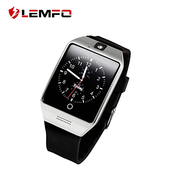 Amazon.com: LEMFO Smart Watch Phone Bluetooth Camera SIM TF ...