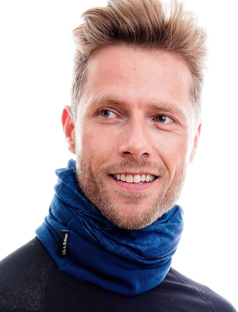 Bufanda de Tubo Bandana Ideal para Hombre y Mujer Dise/ño Actual y en Colores de Moda Hilltop Bufanda con Forro Polar Multiusos Braga de Cuello para Motorista M/áscara de Esqu/í