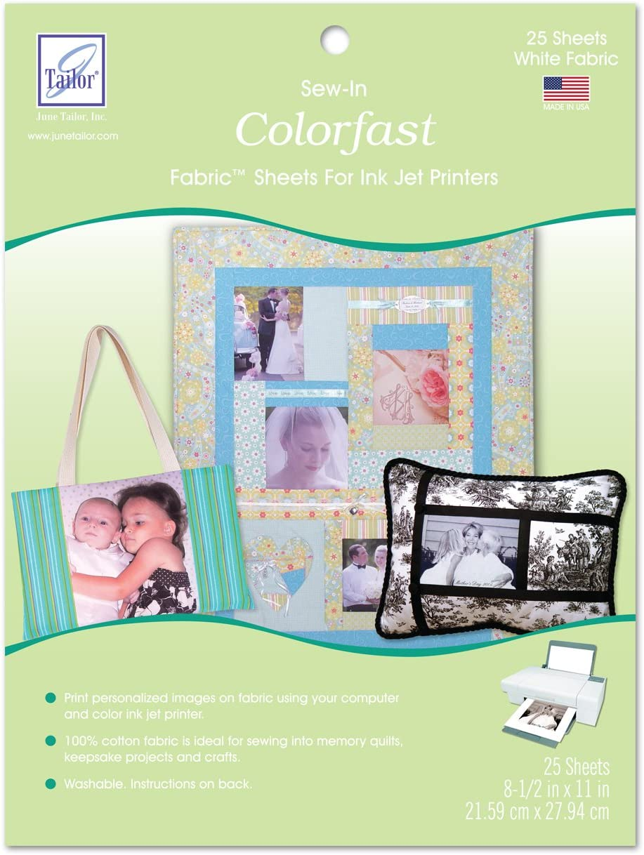 June Tailor Sew-in Colorfast Fabric Sheets