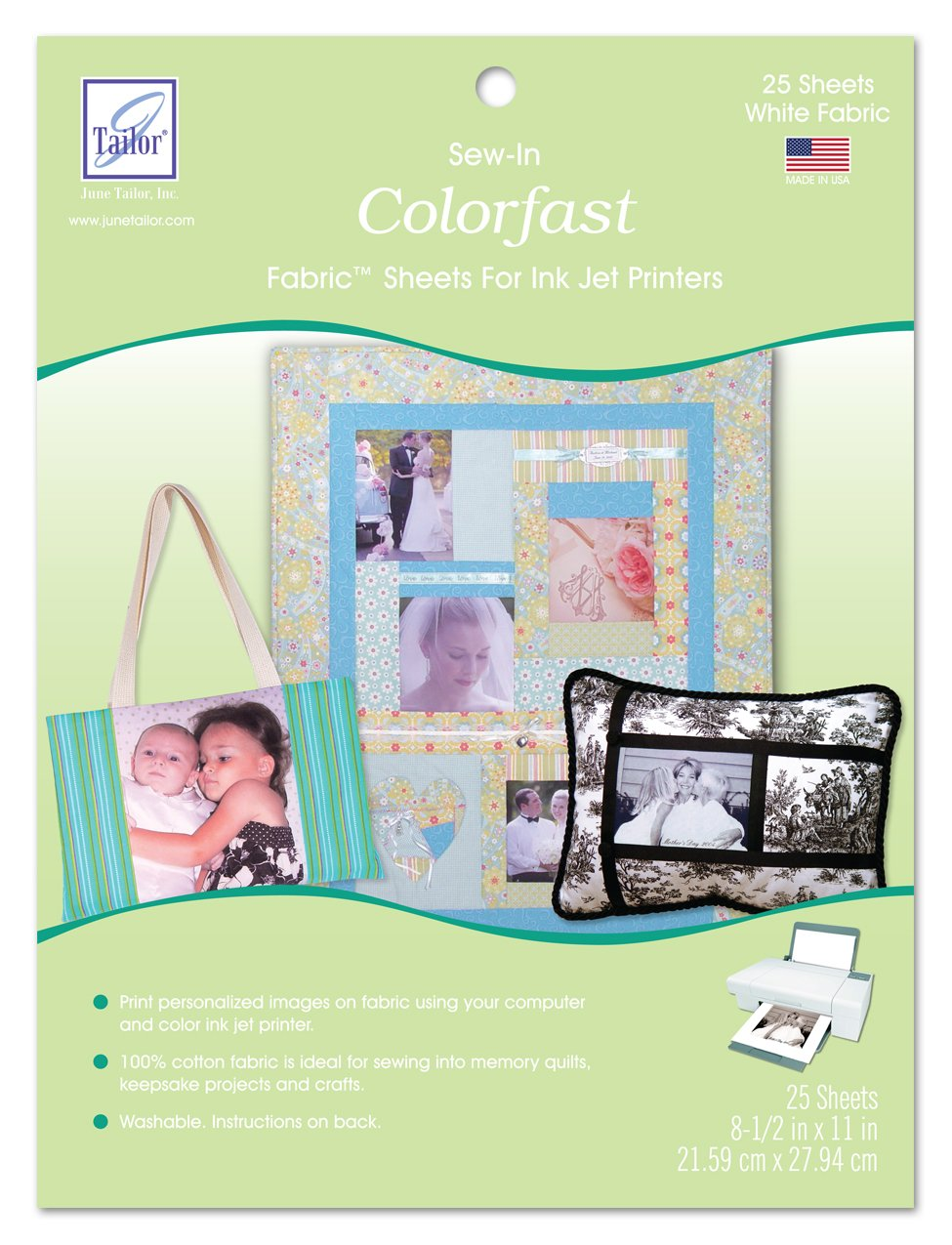 June Tailor Sew-in Colorfast Fabric Sheets by June Tailor