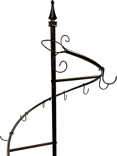 Tripar Bronze Metal Display Purse Tree and Jewelry Organizer 74 Spiral Coat Hanger Bag Display Garment Rack Stand with 15 Hooks