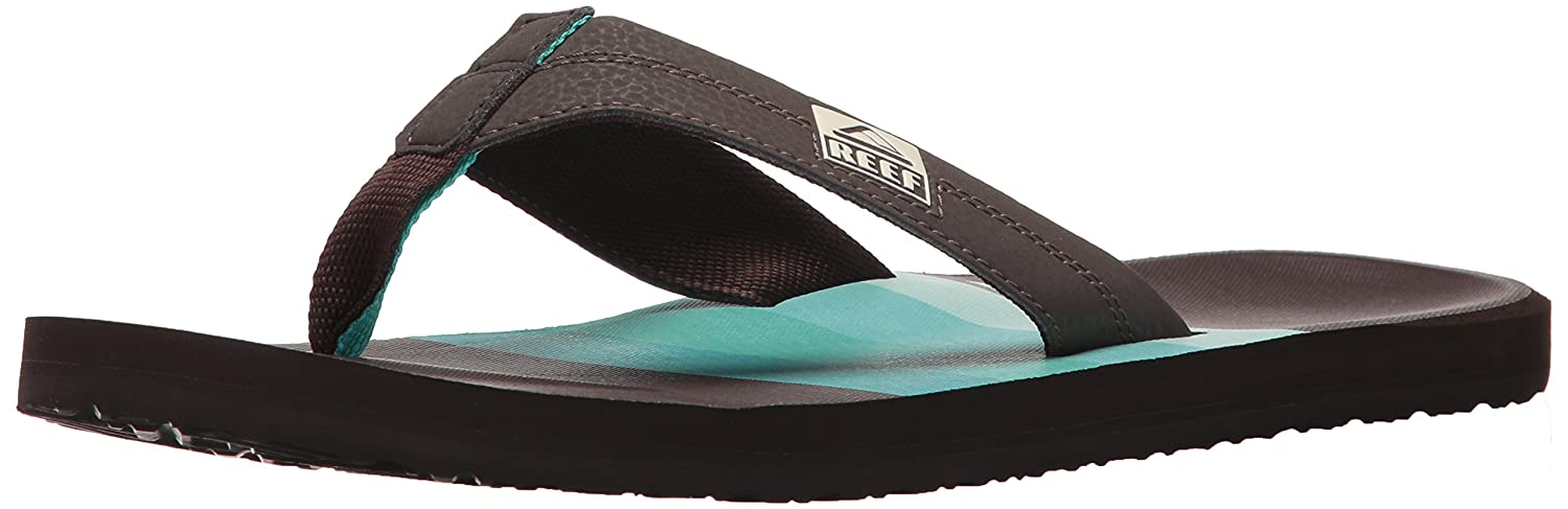 TALLA 45 EU. Reef HT Prints Brown/Blue/Mult, Chanclas para Hombre