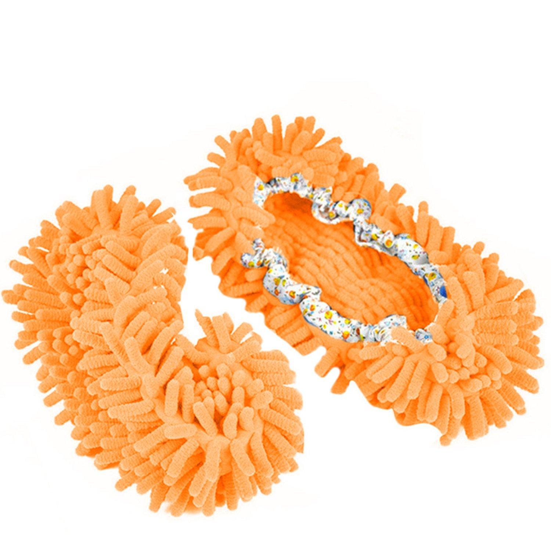 Gosear/® Vadrouille Chaussons Chaussures-Plancher Polissage Couverture Cleaner-Salle de Bain Chaussures Pieds Nettoyage Cuisine Bureau Rose