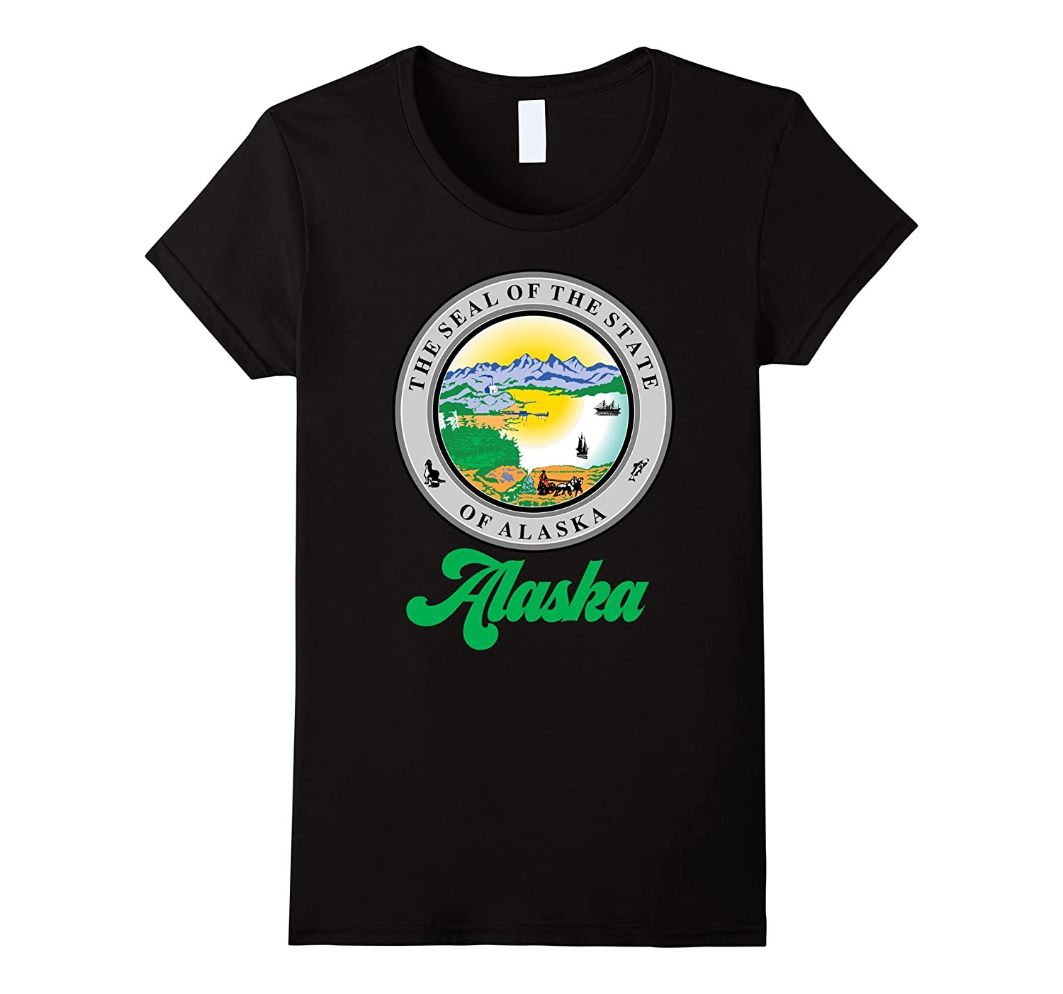 Alaska State T-shirt The Last Frontier Alaska Home Shirt