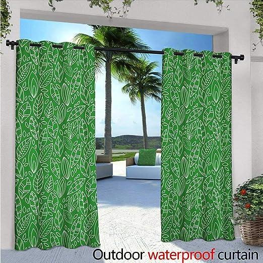 Cortina de privacidad para exteriores verde para pérgola abstracto ...