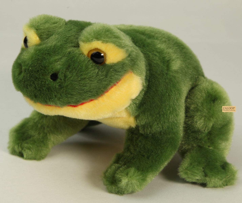 Aurora Stofftier Frosch 15 cm Wackelkopf Kuscheltier Plüschtier Frühling frog