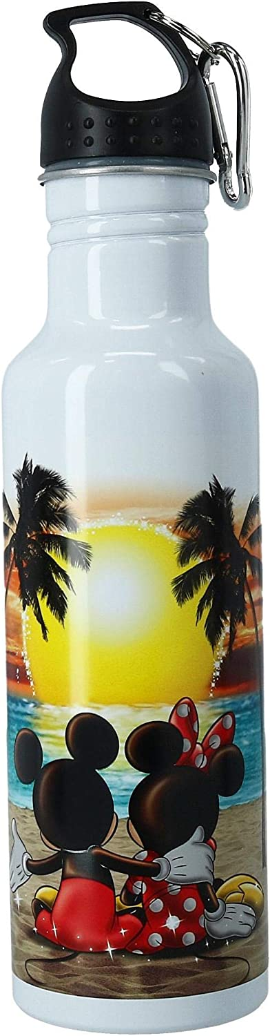 Jerry Leigh Disney Mickey & Minnie Mouse Sunset Aluminum Water Bottle