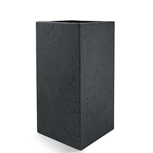 """Pflanzkübel """"Lite High Cube"""" Anthrazit Eckig Hoch Fiberglas *5 ..."""
