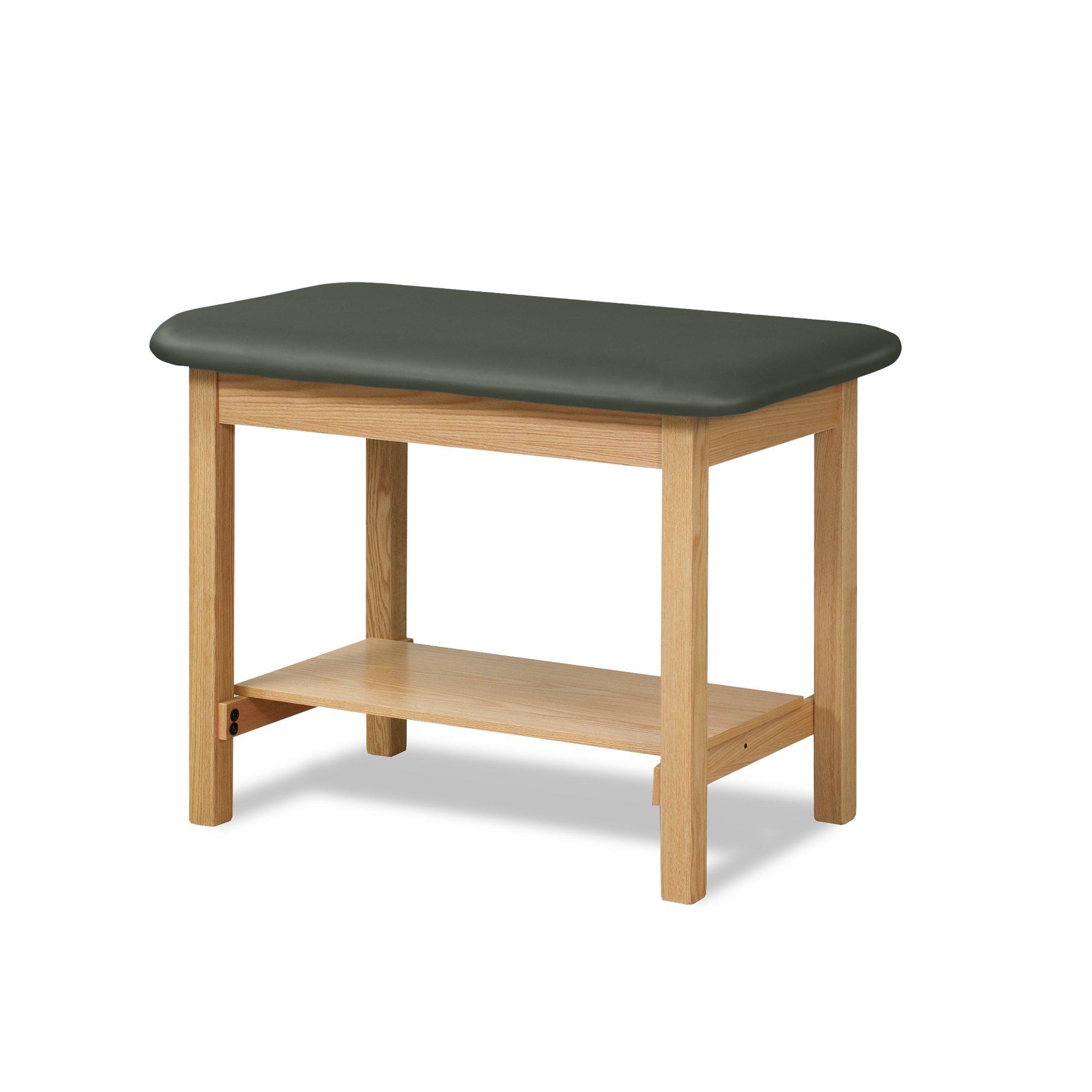 27'' Width Taping Table with Shelf-Gunmetal