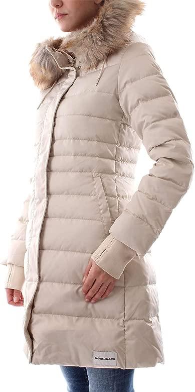 Calvin Klein Beige J20J208587 Women XsAmazon Jacket Down PZTkuwOXi
