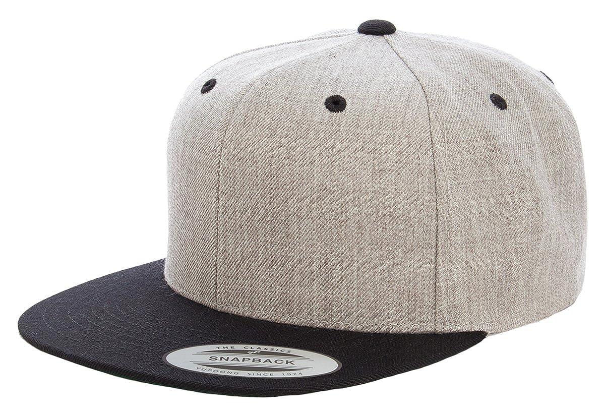 b2741133 Yupoong Classic Snapback Baseball Cap 6089M at Amazon Men's Clothing store: