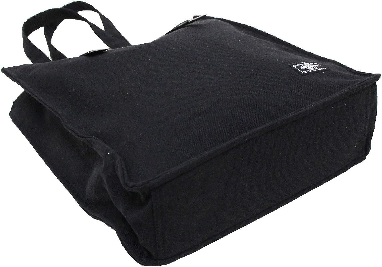 EXAS Belt Type Canvas Tote Bag Black