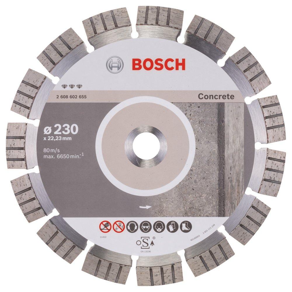 Bosch 2608602655 Disque à tronçonner diamanté best for concrete 230 x 22, 23 x 2, 4 x 15 mm