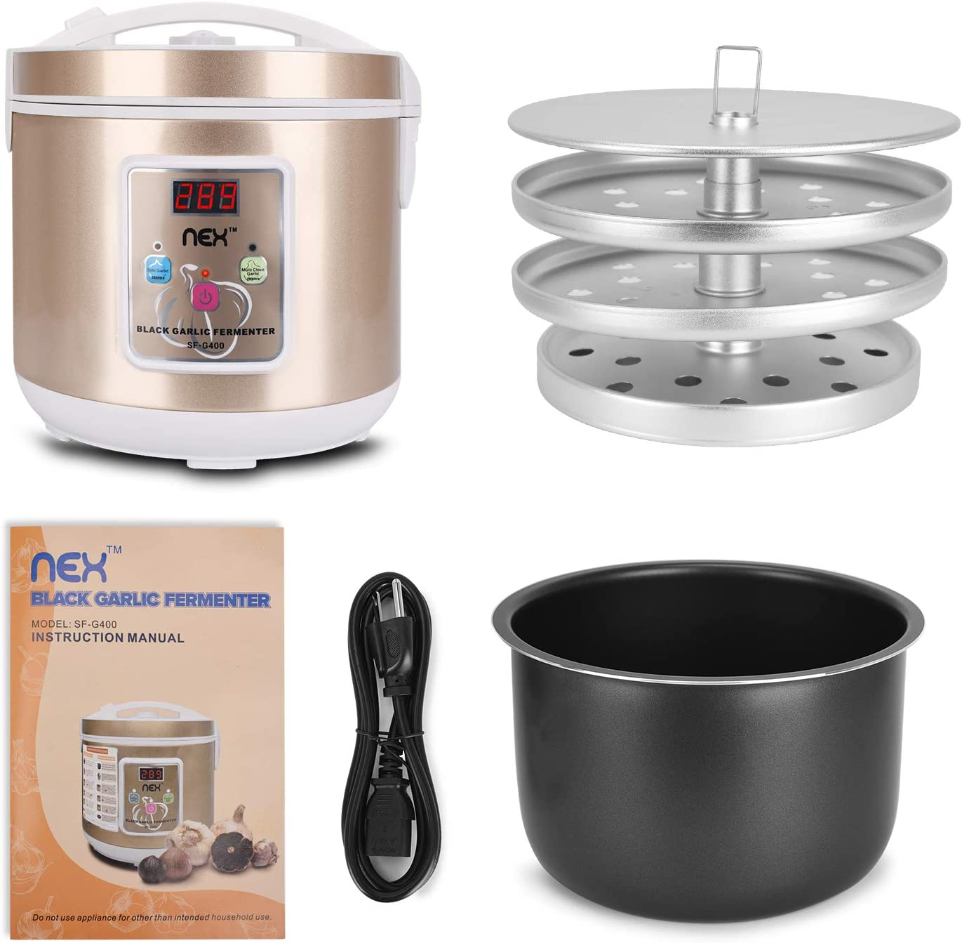 AC110-120V 2-in-1 Electric Black Garlic Cooker Full Automatic ...