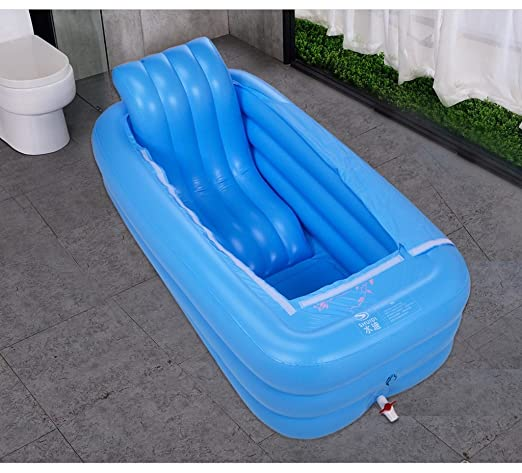 LYM & bañera Plegable Bañera para Adultos baño Inflable Mantenga ...