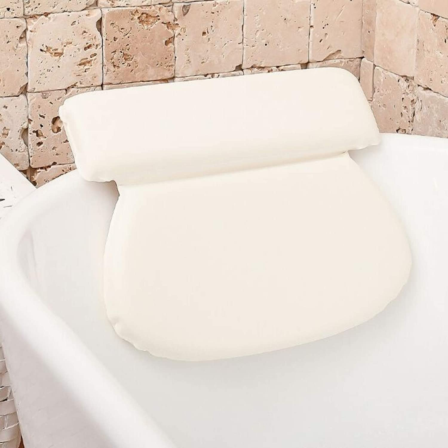 Bath Pillows For Tub Neck And Back Support: Bathtub Pillow For Neck And Shoulder - Bubble Bath Accessories Bath Tub Pillow For At-Home Spa. Self Care Gifts for Women, Relaxation Gifts For Mom