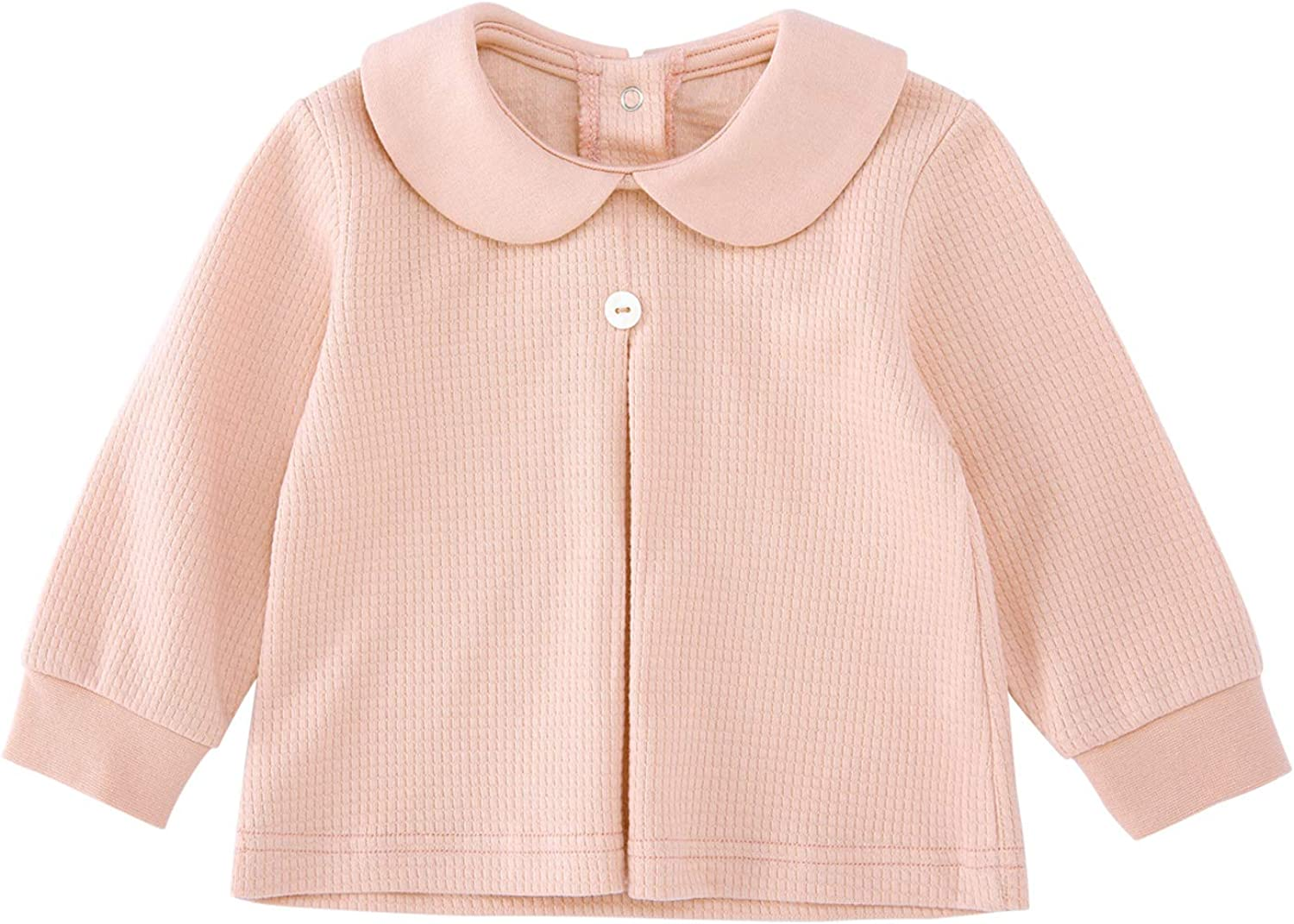 pureborn Baby /&Toddler Girls Cotton Long Sleeve Shirts Blouse Tops