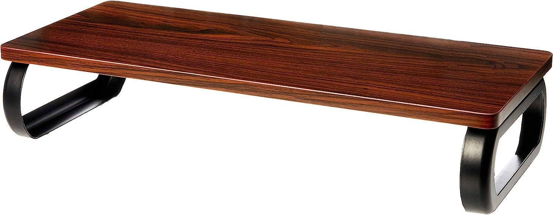 AmazonBasics Wood Monitor Stand, Computer Riser, Walnut