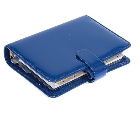 Filofax Agenda Bolsillo Oscuro Azul Patente: Amazon.es: Hogar
