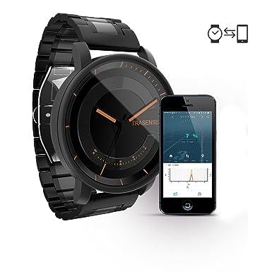 Reloj inteligente híbrido de cuarzo con vibrador de recordatorio y monitor de actividad, correa de