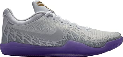 new concept 4553d 51151 Nike Men s Kobe Mamba Rage Basketball Shoes (9.5, White Purple Gold)