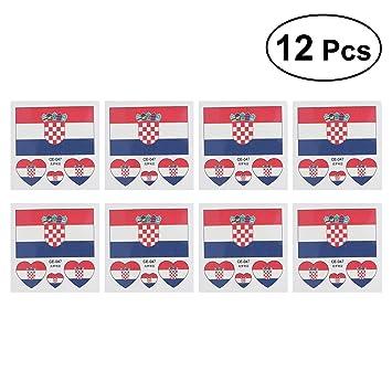 25 x Kroatien Tattoo Fahnen Fan Set Croatia Flag Hrvatska EM Fanartikel 2016