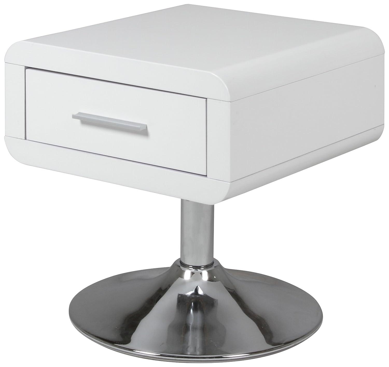 AC Design Furniture Nachttisch Josefine, B H  40 x T 40 x H B  45 cm, MDF, Weiss 9c75ad