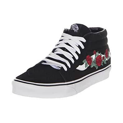 d5c12f1a4cdc06 Vans SK8-MID Reissue (Rose Thorns) - Black (10.5 UK)  Amazon.co.uk ...