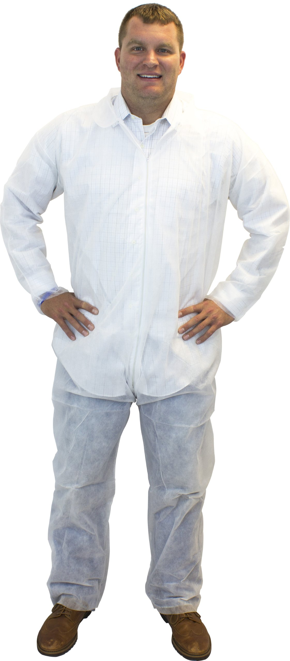 Safety Zone DCWH-5X White Polypropylene Disposable Coverall, 5X-Large (Box of 25)