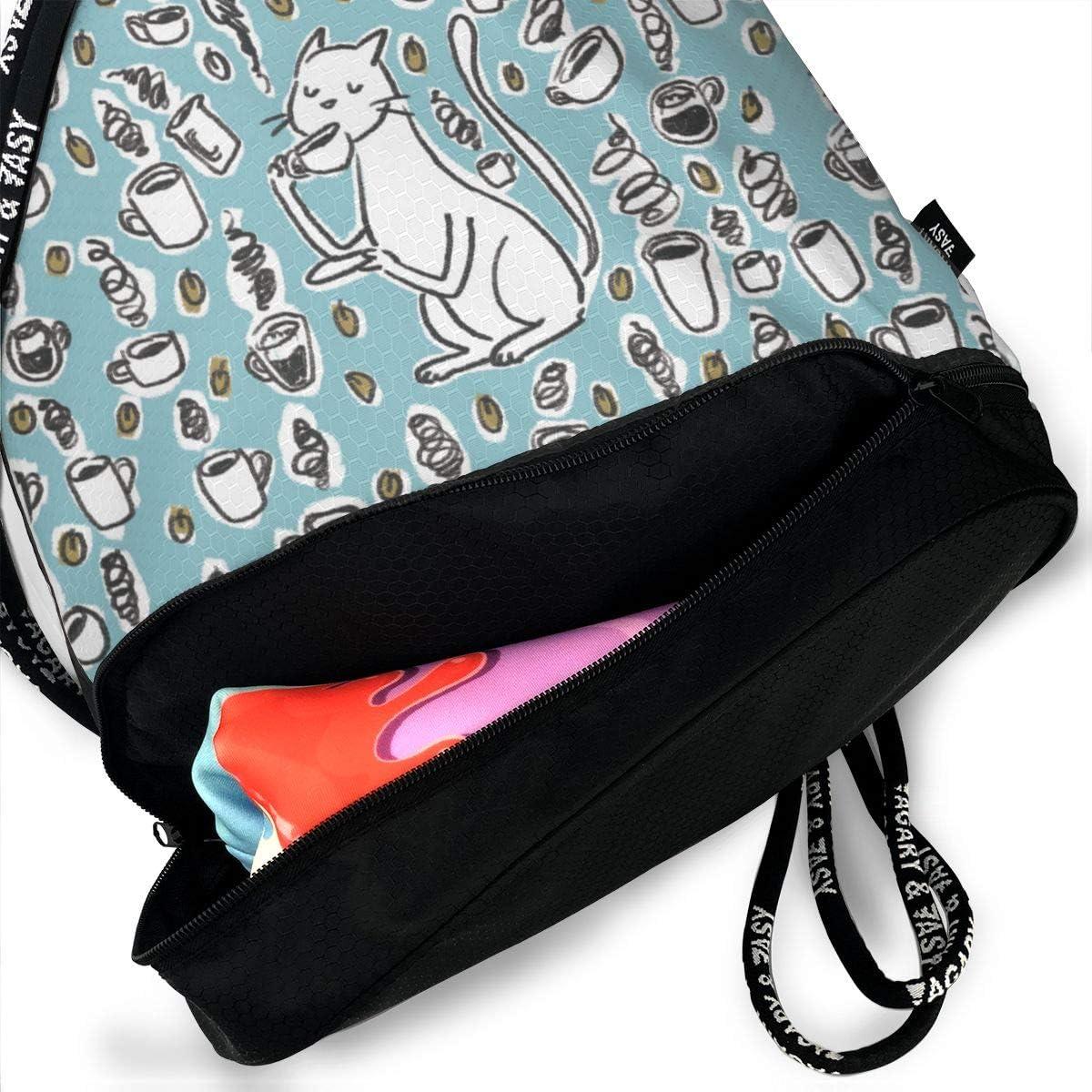 HUOPR5Q Vintage-Vector-Background Drawstring Backpack Sport Gym Sack Shoulder Bulk Bag Dance Bag for School Travel
