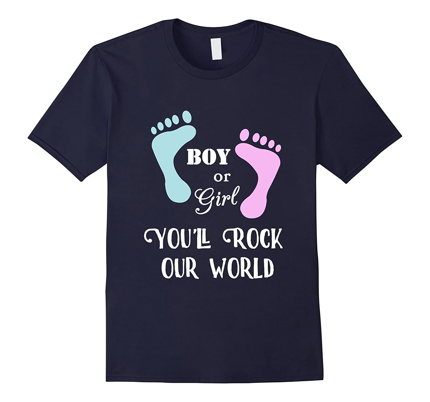 Gender Reveal Shirt Boy or Girl Youll Rock our World-CD