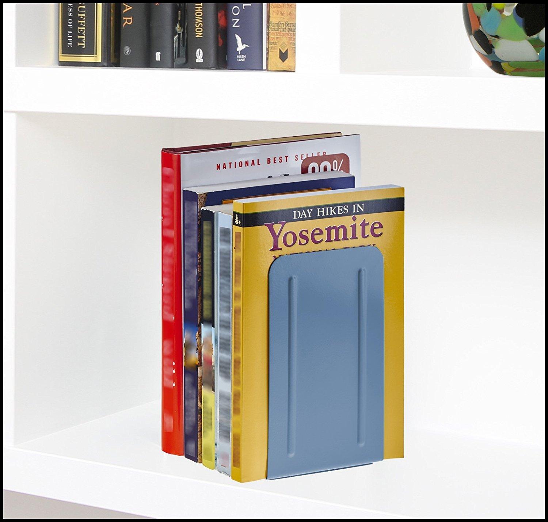 Acrimet Premium Sujetador de libros Met/álico Color Gris paquete de 1 par
