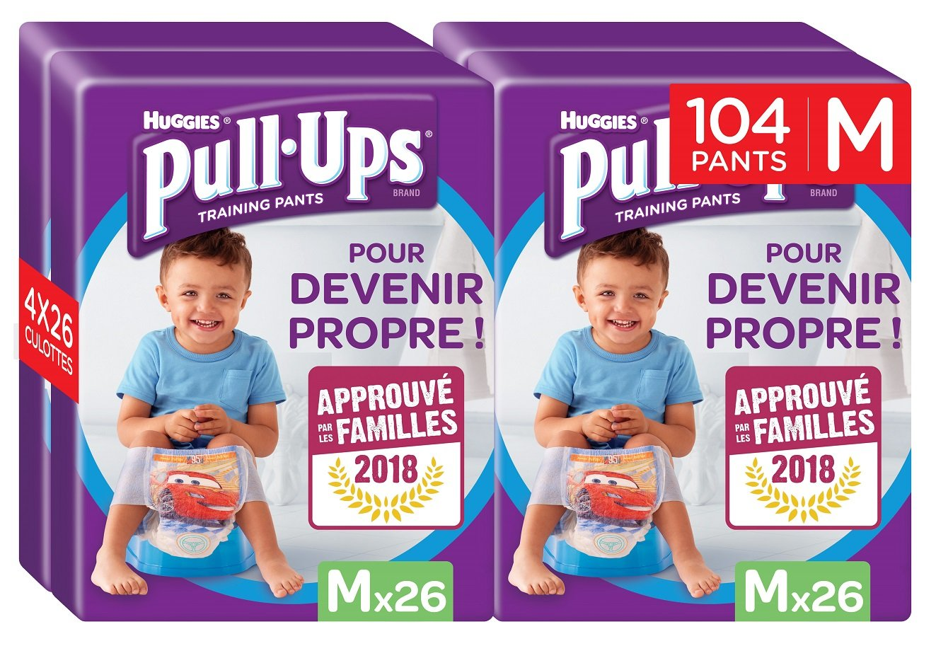 Huggies Pull-Ups Fille Taille 5/Medium (11-18 kg), Couche-Culotte d'Apprentissage de la Propreté Disney Princesses x52 (2 paquets de 26 culottes) 5029053525976
