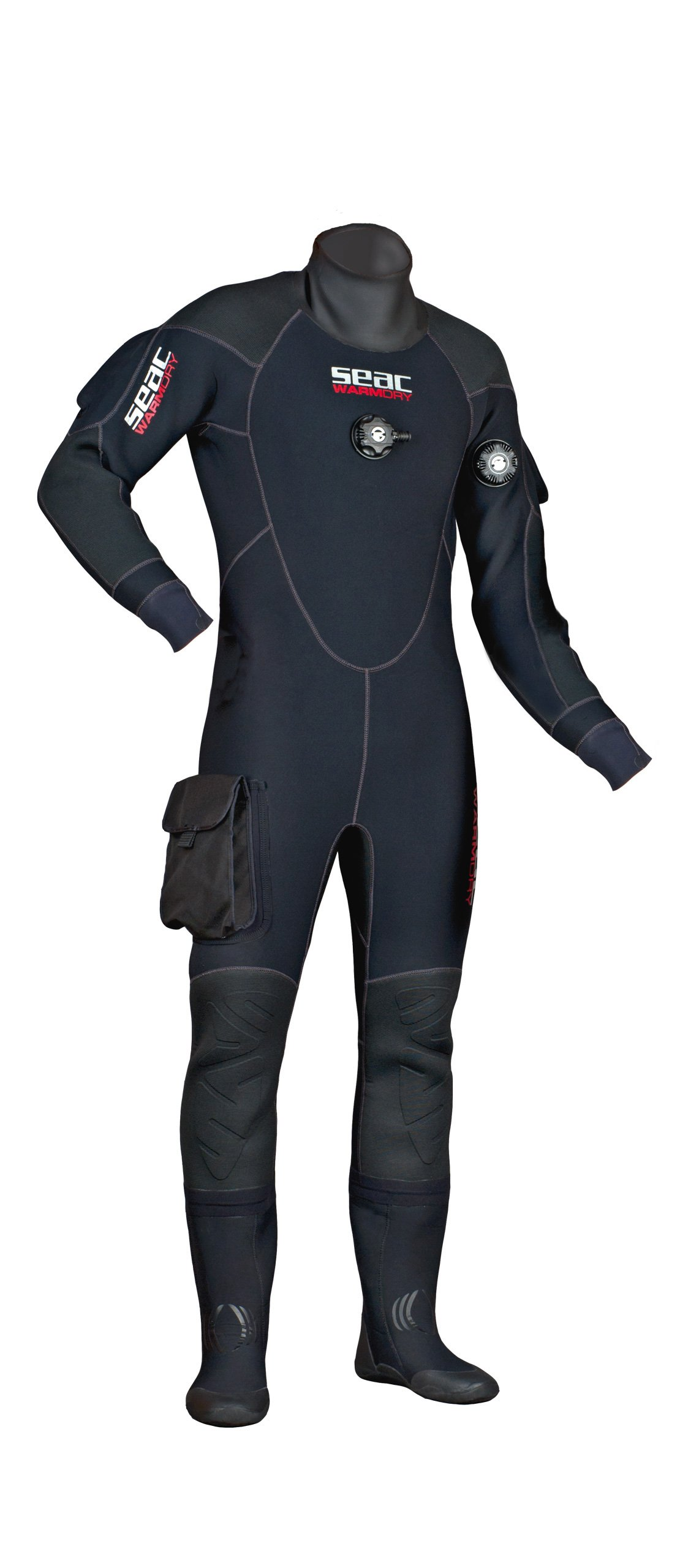 SEAC Men's Warmdry 4mm Neoprene Dry Suit, Black, Small