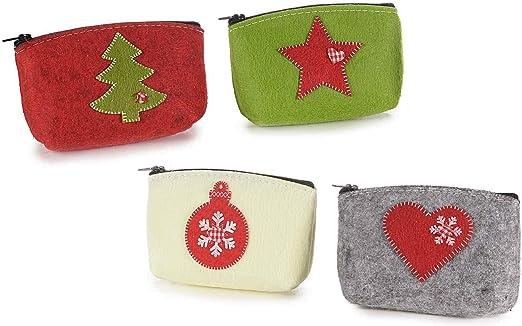 ideapiu 12 Estuche de fieltro con decoración de navidad y Cremallera: Amazon.es: Hogar