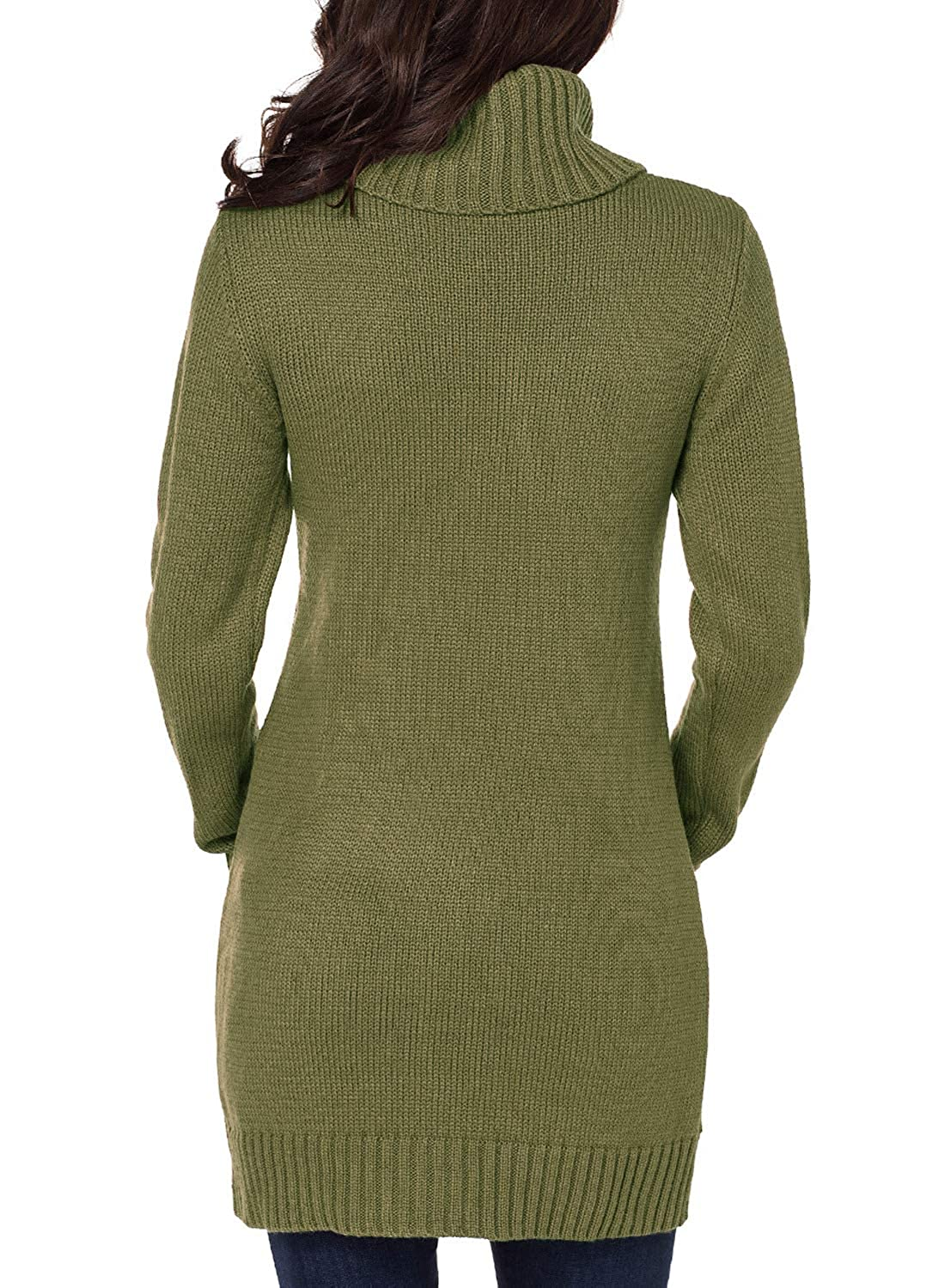 9d5a7277ec Dokotoo Womens Winter Cozy Casual Cable Knit Slim Sweater Jumper Dress at  Amazon Women s Clothing store