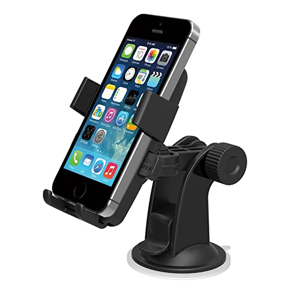 new arrivals 19d8a 9f92b Dashboard & Windshield Cell Phone Holder For iPhone 6/ 6 Plus Samsung  Galaxy S5 S4 S3 Car Mount Mobile Phone Holder For Samsung Galaxy S5 iPhone  6 ...
