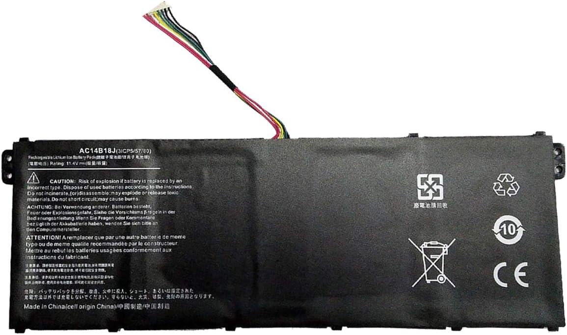 Ammibattery Replacement AC14B18J Battery For Acer Aspire E3-111 E3-721 E5-771 E5-771G ES1-311 ES1-331 ES1-332 CB5-311 Series 11.4V 3220MAH