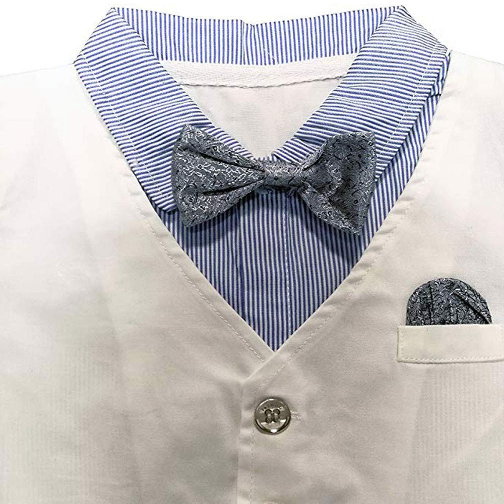 FORESTIME Infant Baby Boys Gentleman Waistcoat Bowtie Tuxedo Jumpsuit Romper Party One Pieces Party Outfits