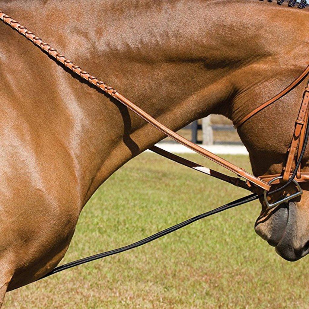 Baosity Horse Black Neck Stretcher Elastic Horse Rein Strap Rope Equestrian Supplies 10ft
